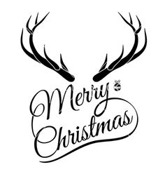 Deer antlers card vector - by sombatkapan on VectorStock® Large Christmas Ornaments, Christmas Swags, Winter Christmas, Xmas, Cricut Christmas Ideas, Christmas Crafts, Merry Christmas Typography, Happy New Year Cards, Wood Burning Patterns