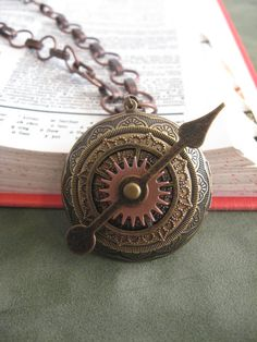 Steampunk style gear locket necklace by PepperboxCreations on Etsy, $30.00