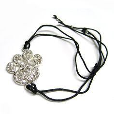 Paw Print Solid Charm with Adjustable String Band
