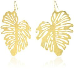 Wendy Mink Inca Voyage Large Leaf Earrings Wendy Mink. $90.48. E-coating on plating to ensure no tarnishing. Made in United States. Large cutout leaf earrings in 18k gold-plating. 18k gold-plating over brass with vermeil ear wires. Hand-cut by Peruvian artisans. Save 42% Off!