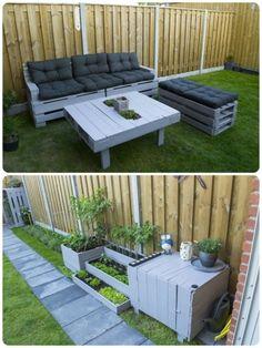 Jardim sofá e armário