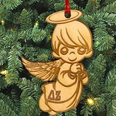 Gamma Sigma Sigma laser-engraved angel ornament with Greek letters. Ornament is Natural Basswood and is approximately, inches. Rush service is available for of the total price. This service can be selected during the checkout process. Sigma Lambda Gamma, Zeta Phi Beta, Alpha Sigma Alpha, Alpha Chi Omega, Delta Sorority, Phi Mu, Delta Gamma, Sorority Life, Angel Ornaments