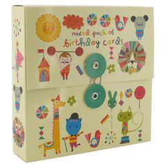 mixed box of birthday cards kids - box of 16 at Paperchase
