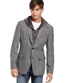 Mens Hooded Blazer