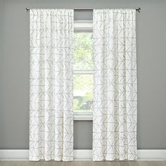 Stitched Edge Curtain Panel - Threshold™ : Target Basement Living Rooms, Living Room Decor Curtains, Bedroom Decor, Playroom Decor, Cheap Curtains, Drapes Curtains, Luxury Curtains, Modern Curtains, Light Blocking Curtains