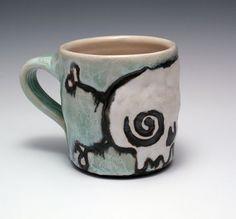 Stoneware Skull Mug, Nicole Pangas