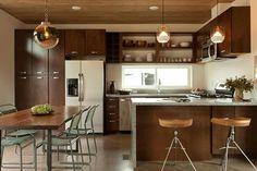 Diseño de cocina moderna en madera.