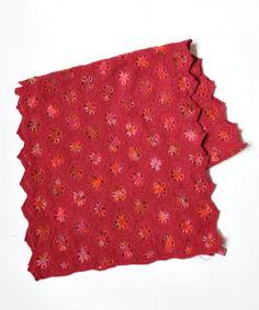 Sophie Digard crochet - VIOLETTE MERINO WOOL SCARF / RED