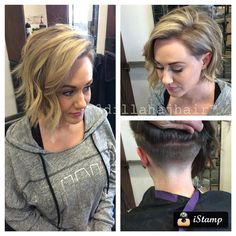 Pretty blonde highlights and a pretty smooth fade #undercut