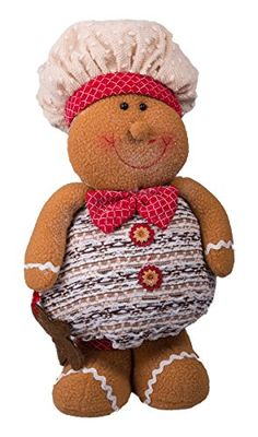 Christmas Standing Gingerbread Boy with Hat and Bowtie  14 * More info could be found at the image url.