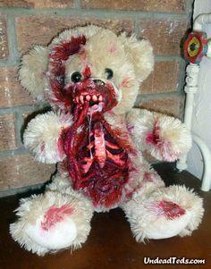 Gruesome zombie teddy bears.