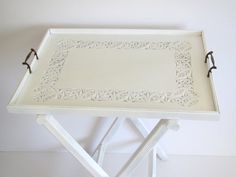 Vintage butler's table/ serving table/ accent table/ by margosmuse, $79.00