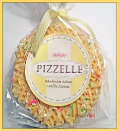 Handmade Italian waffle cookies by ana Pizzelle! Our cookies are perfect for gifts, party favors, and special occasions! Find us on Etsy @ http://etsy.me/1cS7gCp