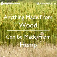 #Hemp not #Trees.  Not only can Hemp basically produce anything timber can, but in most cases it's more durable and sustainable.
