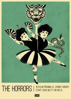 The Horrors poster by Dawid Riski www.talkseek.com/