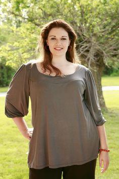 pretty plus size woman, i like the higher yoke