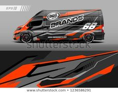 Find Cargo Van Car Wrap Design Vector stock images in HD and millions of other royalty-free stock photos, illustrations and vectors in the Shutterstock collection. Car Wrap Design, Ford Transit Campervan, Car Side View, Vehicle Signage, Van Car, Van Design, Truck Decals, Cargo Van, Smart Car