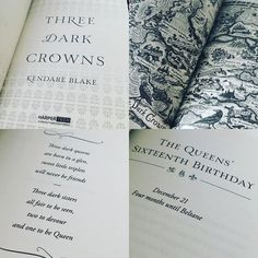 Three Dark Crowns by @kendareblake @epicreads had a MAP!! At least in the ARC. THIS LOOKS SO GOOD!! #question how long did it take to come up with the poem?