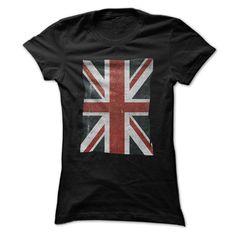 Ripped Grunge UK British Flag T Shirt