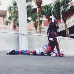 Black yoga, yoga inspiration, nike women, leggings, yoga, black girl magic, black girl yoga, melanin, black models, black fitness, nike, just do it, ebony fitness, nike yoga, black girls rock, black yogis,  Today I Get Stronger, nike training, yoga photography, yoga for athletes