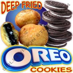 """24"""" Deep Fried Oreo Cookies Concession Trailer Food Truck Restaurant SIgn Decal"""