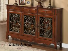 MEXICAN HACIENDA SPANISH COLONIAL REVIVAL FURNITURE CABINET Sofa Buffet Table | eBay