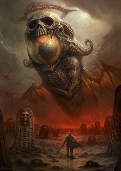 Répertoire Image Fantasy - Page 442 Dark Fantasy Art, Fantasy Artwork, Dark Art, Fantasy Demon, Arte Horror, Horror Art, Art Sinistre, Eldritch Horror, Lovecraftian Horror