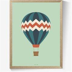 Flot og enkel plakat med et motiv af en luftballon i lys Aquamarine blå Giraffe, Bullet Journal, Wallpaper, Inspiration, Journal Ideas, Simple, Room, Event Posters, Cute Stuff