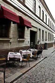 Street Cafe in Helsinki