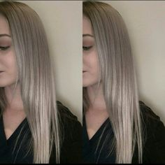 Ash violet blonde hair