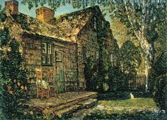 Little Old Cottage, Egypt Lane, East Hampton, 1917, Childe Hassam