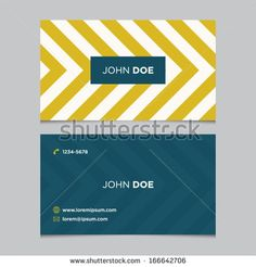 Business card template, background pattern vector design editable - stock vector