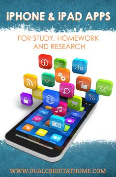 Great iPhone and iPad apps for high school! For more great high school ideas follow us at www.pinterest.com/dualcredit