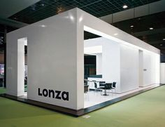 Lonza Fair Stand Exhibition Display, Exhibition Stands, Exhibition Space, Stand Design, Booth Design, Wall Of Fame, Light Building, Exhibit Design, Trade Show