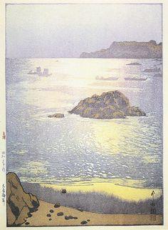 Ohara Beach  by Hiroshi Yoshida, 1928....beautiful