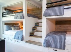 """This family wanted a bunk room that sleeps eight, so their kids would have a comfortable space to stay when they come to visit for holidays,"" says designer Joanna Gaines."