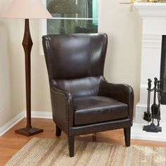 Shop for Christopher Knight Home Lorenzo Bonded Leather Studded Club Chair. Get free shipping at Overstock.com - Your Online…