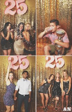 A Glittery Golden 25th Birthday Party