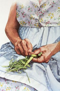 "Jill Pritchett, Professional Watercolorist & Author. ""Memories of Granny's Hands"". ☀CQ, I absolutely love this!!"