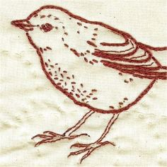Robin Stitchery in Red - Red & white quilt blocks!