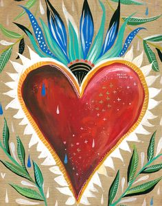 Sacred Heart - vertical print by thewheatfield on Etsy https://www.etsy.com/listing/225083214/sacred-heart-vertical-print