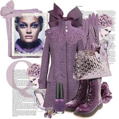 A fashion look from January 2013 featuring lace-up ankle booties, Betsey Johnson and purple gloves. Season Colors, Betsey Johnson, Style Me, 18th, Asos, Female, Clothes For Women, Purple, Sadie Hawkins