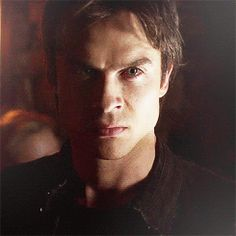 "Damon ""vampin"" out gif"