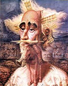Don Quijote, según Octavio Ocampo (México, 1943-).