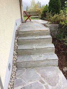 Ferienwohnungen Panorama: Renovierungs des Aufganges zum Ferienhaus Panorama Stairs, Rose, Home Decor, Terrace, Cottage House, Pink, Stairway, Staircases, Roses