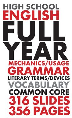 Start the year strong! EVERYTHING you need to keep your high school English students working hard. #HighSchoolEnglish