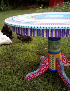 Hand Painted Furniture- cool table