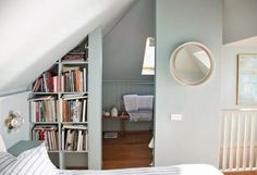 i'd love a little built in bookshelf by my bed