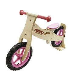 The Original Runna Balance Bikes - Affordable Wooden Running Bikes that young children will love. Let your kids get a head start on learning to ride a two wheel bike with the Runna Balance Bikes. These wonderful, quality bikes teach young children to gain balance, maintain control and build confidence quickly. The Runna Balance Bike removes the need for training wheels allowing your child to progress straight to a two wheeled pedal bike.