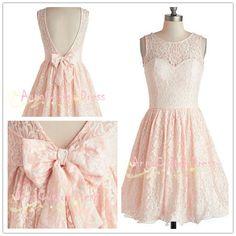 Short Blush Pink Lace Bridesmaid Dress Straps V-back Wedding Party Dress Custom Peach Coral Mint Green Prom Dress Formal Dress 2014